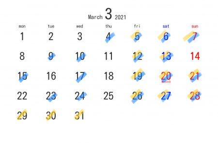 3月の各営業について